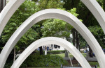 Three Arches in a Park Setting