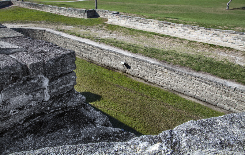 Three Levels of Land at Castillo de San Marcos