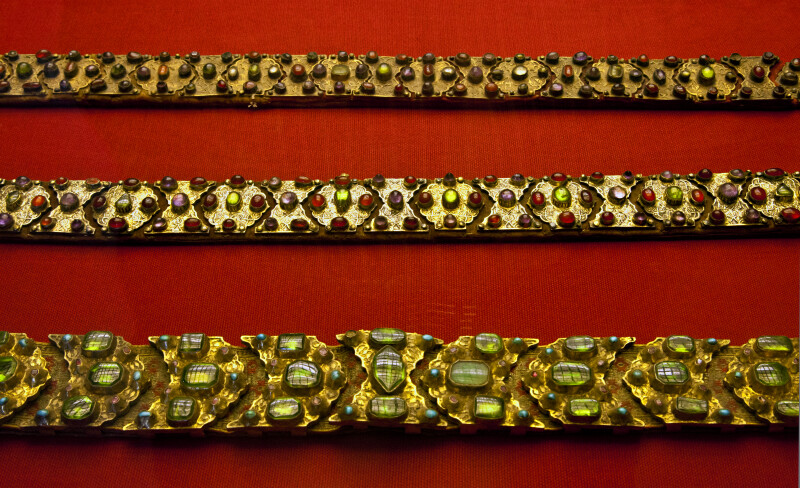 Three Ottoman Belts Covered in Stones