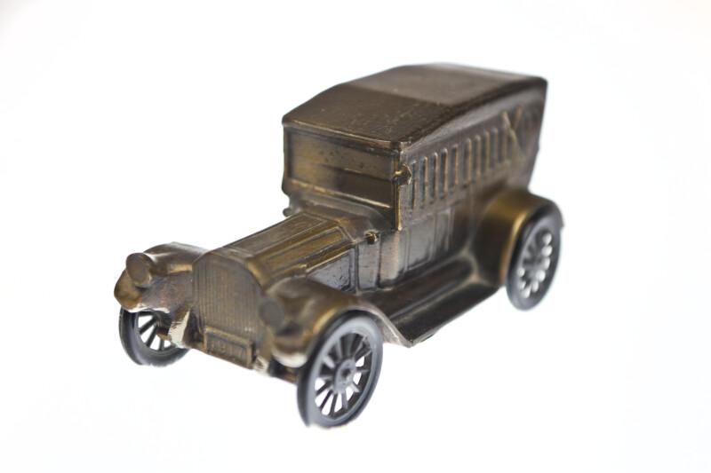 Three-quarter View of Antique Car Bank