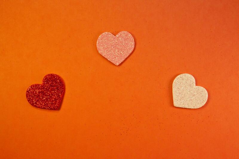 Three Sparkling Hearts