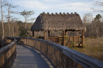Tiki Hut Along Boardwalk