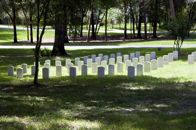 Tombstones in Clearing