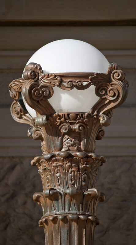 Top of Lamp Post at the Soldiers and Sailors' Memorial Hall