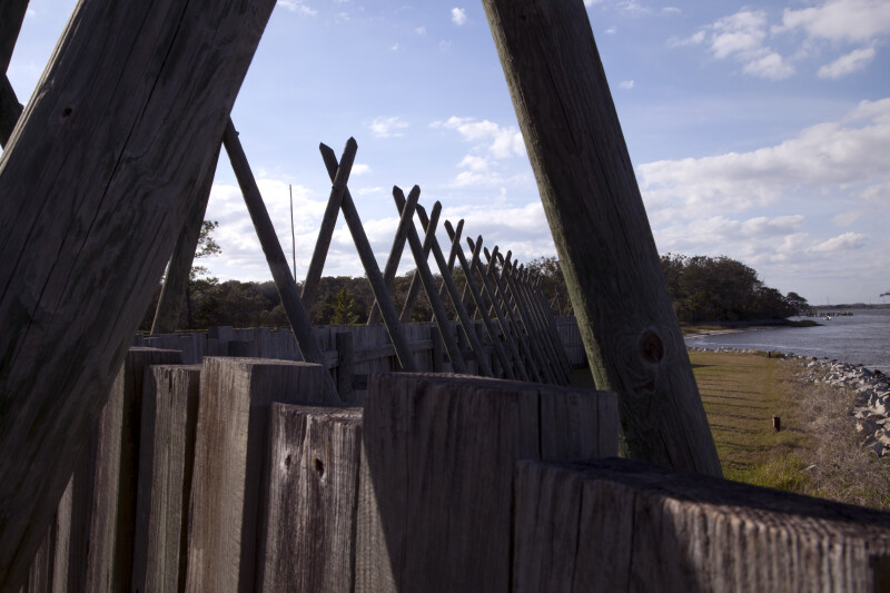 Top of the Sea Wall of Reconstructed Fort Caroline