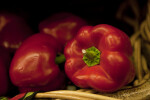 Top View of Red Bell Pepper