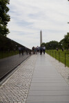 Tourists at Vietnam Veterans Memorial