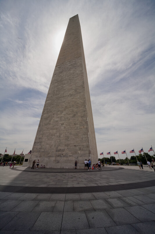 Tourists at Washington Monument