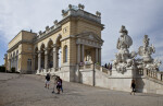 Tourists Outside Gloriette