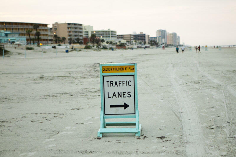 Traffic Lane Sign #1