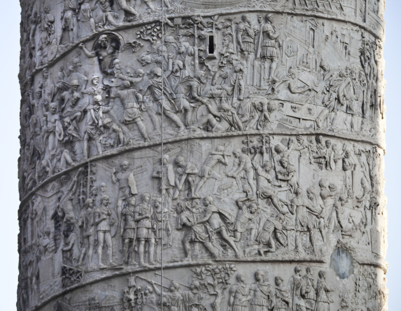 Trajan Questions the Prisoners, Observes Battles, and Oversees a Victory