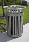 Trash Receptacle near USF Library