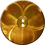 Trefoil Button, Gold
