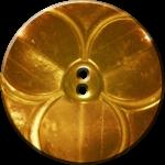 Trefoil Button, Gold