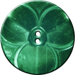 Trefoil Button, Green