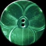 Trefoil Button, Green
