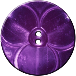 Trefoil Button, Purple