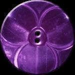 Trefoil Button, Purple