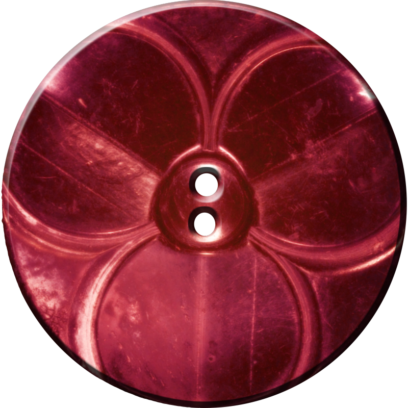 Trefoil Button, Red