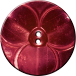 Trefoil Button, Red