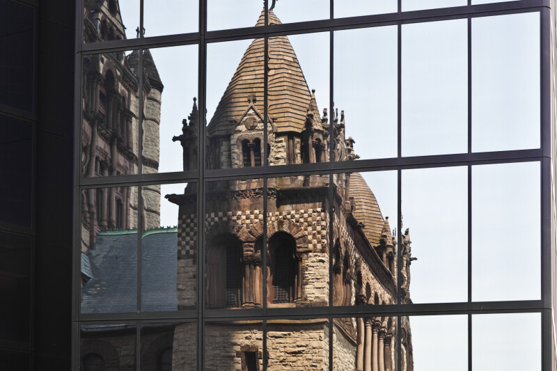 Trinity Church of Boston Reflected in the John Handcock Tower