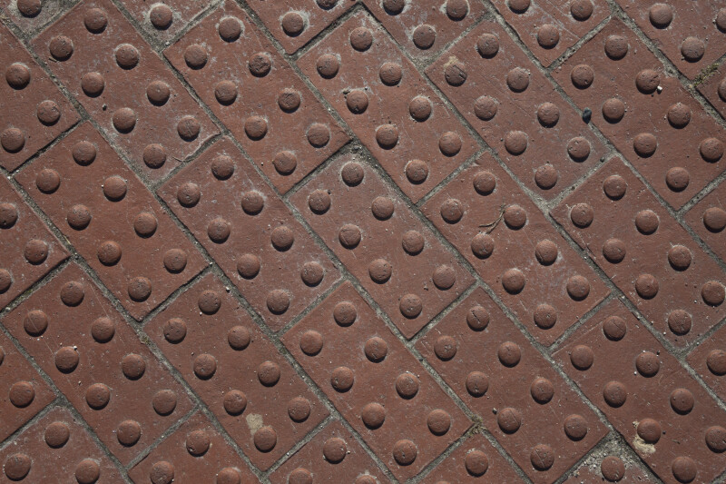 Truncated Cone Bricks at Crosswalk