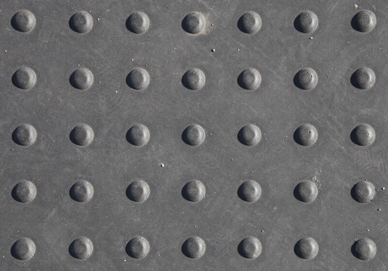 Truncated Cone Pattern at Crosswalk