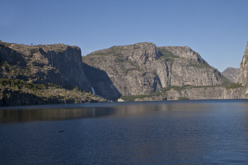 Tueeulala Falls, Wapama Falls, and Hetch Hetchy Dome