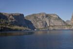 Tueeulala Falls, Wapama Falls, and Hetch Hetchy Dome