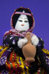Turkey Doll with Hand Painted Face on Cloth, Head Scarf, and Yarn Hair (Close Up)