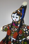 Turkey Female Doll with Peaked Head Scarf, Tassels, and Pom Poms (Close Up)
