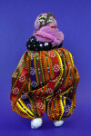 Turkey Handcrafted Woman with Head Scarf and Gold Beads (Back View)