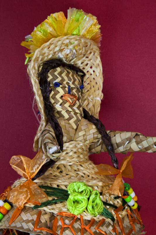 Turks and Caicos Female Figure Handcrafted by Local Artisans (Three Quarter View)