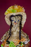 Turks and Caicos Handcrafted Lady from Palm Leaves with Hat and Skirt (Close Up)