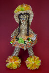 Turks and Caicos Woman Made of Palm Leaves and Fiber (Full View)