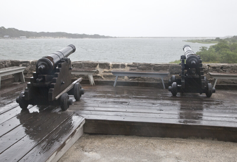 Two Cannons on the Gun Deck