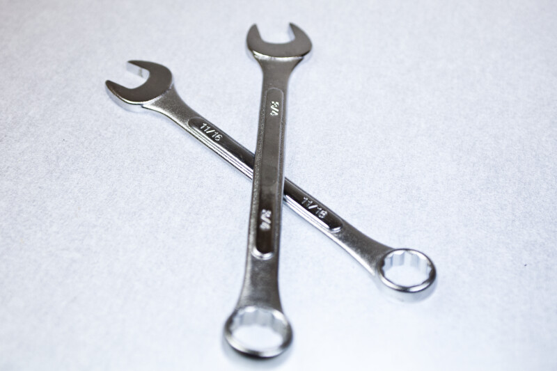 Two Combination Wrenches