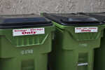 Two Green Recycling Bins
