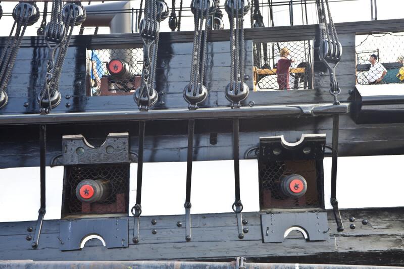 Two Gun Decks on the USS Constitution