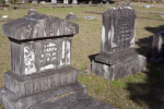 Two Styles of Die, Base, and Cap Headstone