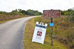 Two Warning Signs Along the Road at Shark Valley of Everglades National Park