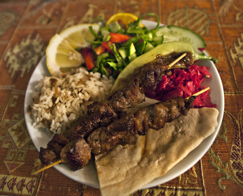 Typical Kebap Meal in Göreme, Turkey