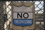 U.S. Property No Trespassing Sign