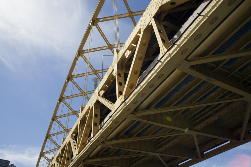 Underside of the Fort Duquesne Bridge