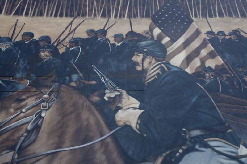 Union Solders in Mural