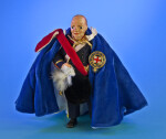 United Kingdom, Sir Winston Churchill Doll Wearing Robes of the Order of the Garter (Full View)