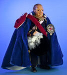 United Kingdom, Sir Winston Churchill Doll Wearing Velvet Cloak (Three Quarter View)