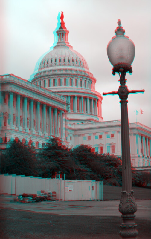 United States Capitol, West Side, North Wing (lamp included)