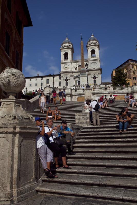 Upward View of the Spanish Steps