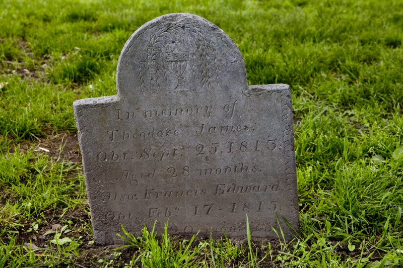 Urn and Willow on A Shouldered Tablet Headstone